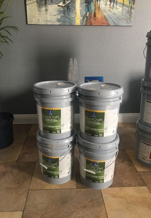 House paint exterior balanced beige 4 buckets for only $200 firm for Sale in Las Vegas, NV