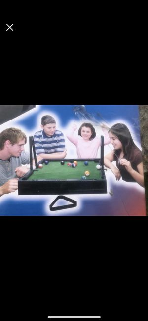 Kids table pool game in box for Sale in Lynnfield, MA