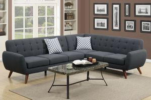 2-Pcs Modern Sectional Sofa Ash Black for Sale in Marlborough, MA