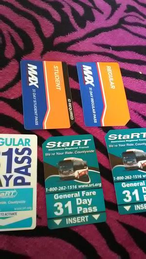 Monthly bus passes MAXX/START for Sale in Oakdale, CA