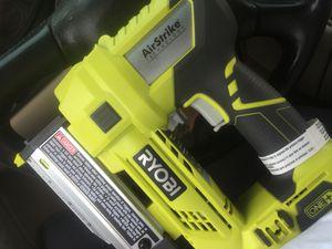 nail gun air strike tech ryob for Sale in Houston, TX