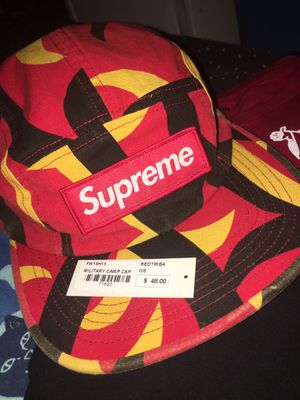 Red Supreme Military Camp Cap FW19 for Sale in Fontana, CA