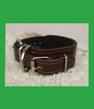 New Super Secure Double buckle Collar 100% Leather for Sale in Glendora, CA