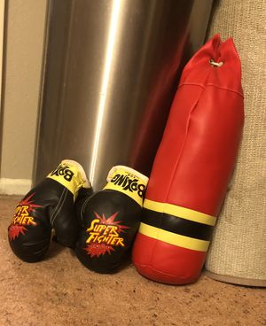 Children's Punching Bag And Boxing Gloves for Sale in Pico Rivera, CA