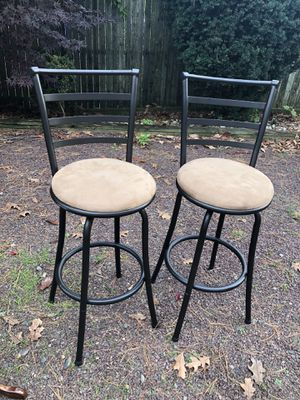 Two Metal Bar Stools Chair for Sale in Melrose Park, PA