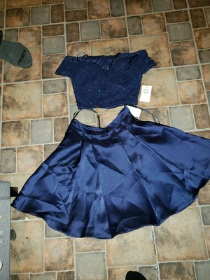 Blue, two peice, dillards, homecoming dress for Sale in Davenport, FL