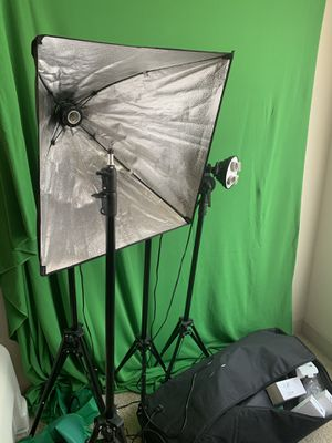 Photography Lighting kit with Green Screen for Sale in Aurora, CO