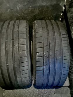 2Llantas Continentals 265/35ZR19 En Buenas Condiciones! $130 as for Sale in Fontana,  CA