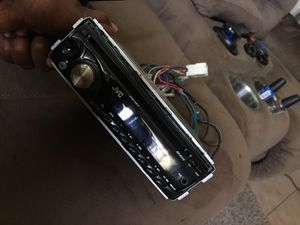 Jvc with the holder included can use aux also for Sale in Lakeland, FL