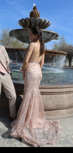 Rose Gold Dress by Jovani for Sale in Rialto, CA
