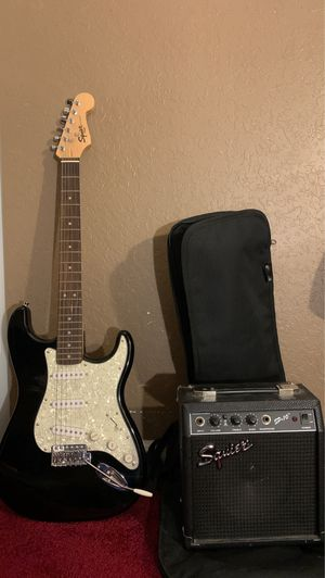 Fender Squire guitar and Amp w/ carrying bag.... only missing cable for Sale in Hialeah, FL