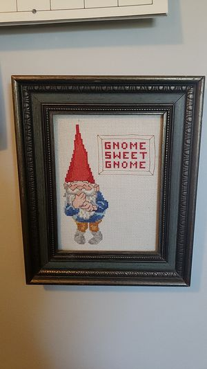 Framed Cross Stitch Gnome for Sale in Lakewood, CA