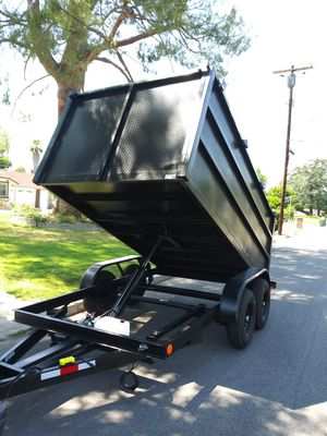 BRAND NEW DUMP TRAILER HEAVY DUTY 8X12X4 12000 LBS 6OOO LBS EACH AXLE,READY TO WORK I HAVE THE TITLE IN HAND FOR ANY QUESTION TEXT ME ANY TIME THANKS. for Sale in Los Angeles, CA