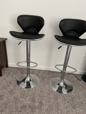 Bar Stools Counter Height Adjustable Bar Chairs With Back Barstools Set of 2 for Sale in Bloomington, IL