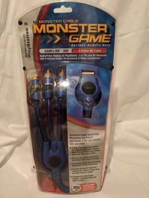 Monster Game GameLink 300 S-Video AV Cable for Sale in Fuquay-Varina, NC