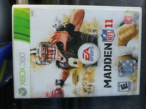 XBOX 360 GAME MADDEN NFL 11 for Sale in Phillips Ranch, CA
