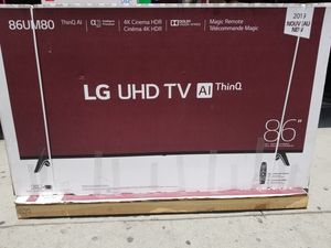 """We deliver. 86"""" LED SMART 4K ULTRA HDTV BY LG WITH HDR. 1 year WARRANTY for Sale in Los Angeles, CA"""