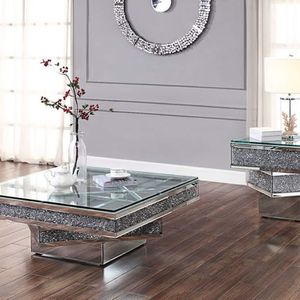 GLAM Mirrored Glass/Faux Crystals Coffee Table / MESA DE CENTRO for Sale in Rancho Cucamonga, CA