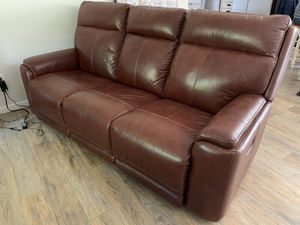 Flex steel Power reclining sofa with power head rest for Sale in University Place, WA