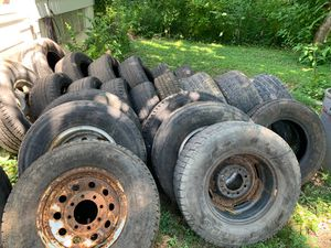 30+ tires and some mounted on steel wheels, sellable for Sale in BRECKNRDG HLS, MO