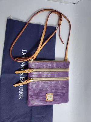 Dooney & Bourke crossbody bag Triple purple leather for Sale in San Antonio, TX