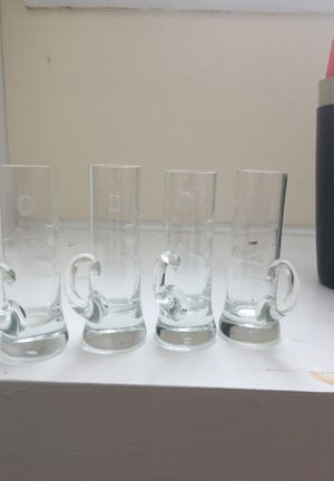 4 antique crystal Irish whiskey shot glasses for Sale in Independence, OH