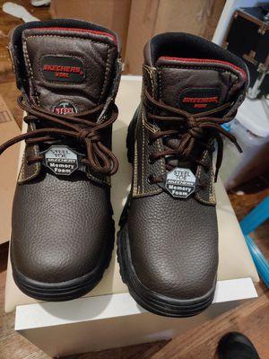 Brand new sketchers steel toe work boots size 10 for Sale in Philadelphia, PA