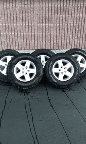 Set of 5 Jeep Wrangler Wheels and Tires for Sale in Manheim, PA