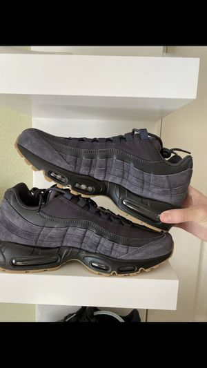 Nike Air Max 95 SE Anthracite Black Gum Mens Size 9 Woman's size 10.5 $190 obo new with box for Sale in Huntington Beach, CA