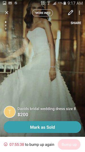 David's bridal irvoy size 8 wedding dress for Sale in Bellingham, MA