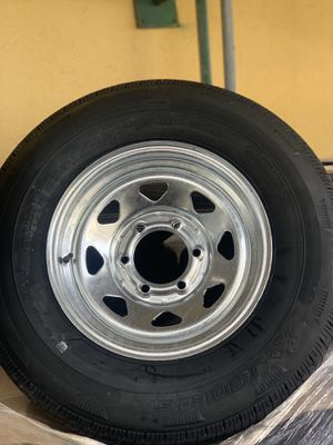 225/75r15 6 lug galvanized rim and tire boat trailer for Sale in Pompano Beach, FL