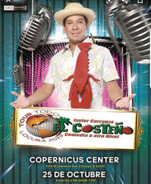 4 tickets para el Show del Costeño en el Copernicus center el viernes 25 de Octubre a las 8:00 pm for Sale in Wheeling, IL