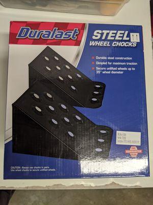 Duralast steel wheel chocks pack of two for Sale in Glendale, CA