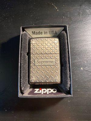 Supreme diamond plate zippo for Sale in Brooklyn, NY