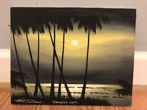 Beach scenery canvas painting from Jamaica for Sale in Arlington, VA