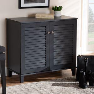 New Baxton Studio Coolidge Modern Dark Grey 4-Shelf Shoe Cabinet for Sale in Houston, TX