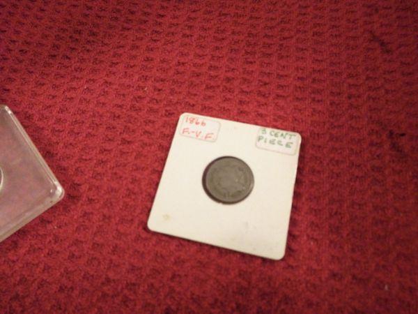 1866 3¢ peice