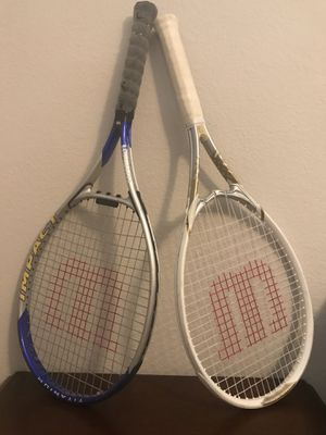 Wilson impact tennis racket(Blue)/ Wilson Venus and Serena tennis racket(White) for Sale in North Las Vegas, NV