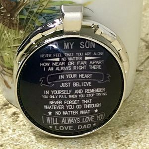 Inspirational To My Son Love Dad Keychain for Sale in Lester, WV