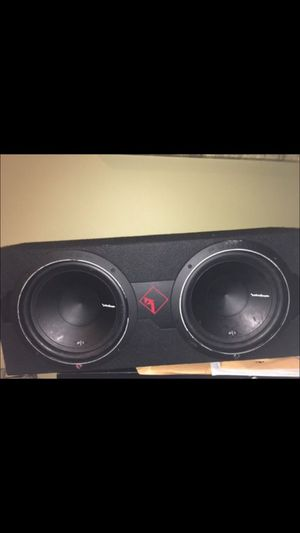 Polk Audio Subwoofers + Amp and box!!! PRICE DROP for Sale in Bloomfield Hills, MI