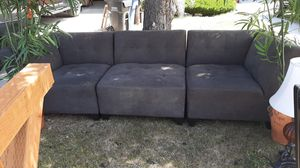 Free furniture , table w/ six chairs, 3 piece sectional grey couch, large and small area rugs, lamps, accessories. for Sale in Park City, UT