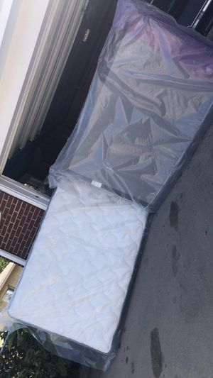 Full size mattress and boxspring and frame for Sale in Denver, CO