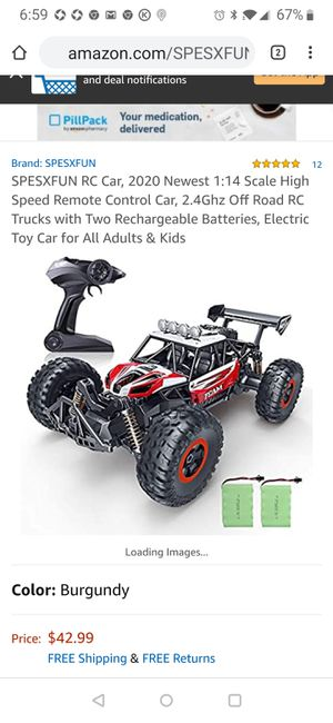 2020 Newest 1:14 Scale High Speed Remote Control Car, 2.4Ghz Off Road RC Trucks with Two Rechargeable Batteries for Sale in Tampa, FL