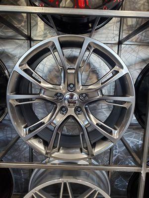 Jeep set wheels hyper black metallic 20x9 et35 5x127fits grand Cherokee rim wheel tire shop for Sale in Tempe, AZ