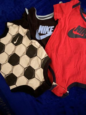 Nike onesies, Nike cap, crib shoes for Sale in Kalamazoo, MI