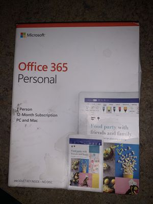 Microsoft Office 365 1 year subscription -Student & Small Business Owners for Sale in Raleigh, NC