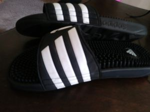 adidas Adissage Slides Black size 6 Womens Swim Slides for Sale in Blackwood, NJ