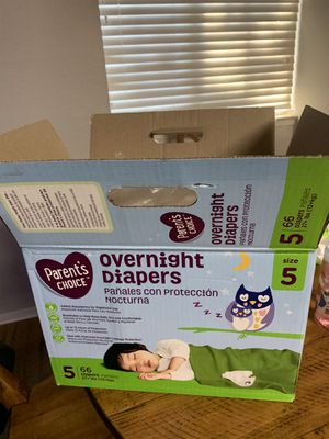 Size 5 Overnight Diapers for Sale in Upland, CA