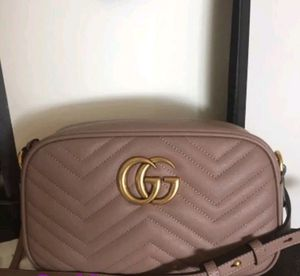 Gucci Matelasse Marmont Small Authentic Dusty Pink Rose Crossbody Shoulder Bag. for Sale in Garland, TX