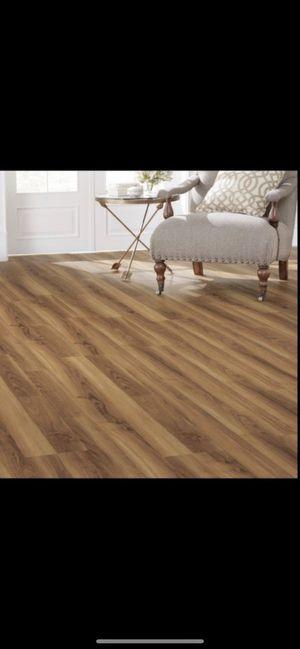 Home decorators collection warm cherry luxury vinyl plank flooring for Sale in Phoenix, AZ